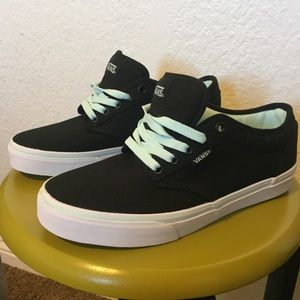 Brand New! Vans Black and Mint Green Shoes!